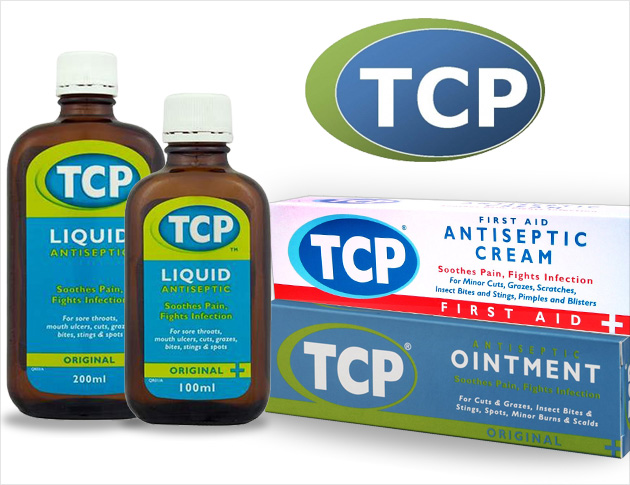TCP Products: TCP Liquids, Ointments and Antiseptic creams